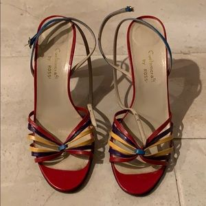 Shoes - Red heeled sandals